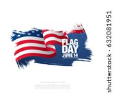 flag day in the united states ... | Shutterstock .eps vector #632081951