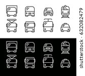 editable set of transport icons.... | Shutterstock .eps vector #632082479