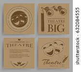 vintage theatre cards... | Shutterstock .eps vector #632084555