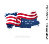flag day in the united states ... | Shutterstock .eps vector #632090261