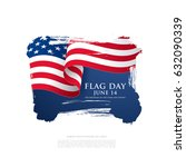 flag day in the united states ... | Shutterstock .eps vector #632090339