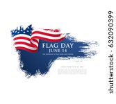 flag day in the united states ... | Shutterstock .eps vector #632090399
