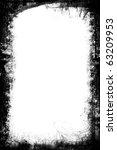 A Black And White Grunge Frame...