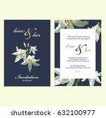 wedding invitation card | Shutterstock .eps vector #632100977