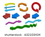 group of different color 3d... | Shutterstock .eps vector #632103434