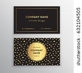 set of vector business card... | Shutterstock .eps vector #632104505
