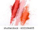 makeup cosmetics. blush crushed ... | Shutterstock . vector #632106605