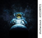 reach for the moon   3d... | Shutterstock . vector #632108921