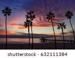 los angeles sunset | Shutterstock . vector #632111384