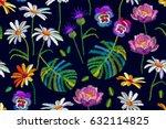 tropical summer. seamless... | Shutterstock .eps vector #632114825