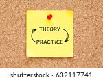 theory practice arrows concept... | Shutterstock . vector #632117741