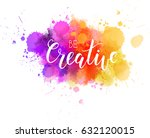 be creative hand lettering... | Shutterstock .eps vector #632120015
