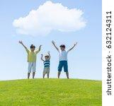 happy summer vacation for kids... | Shutterstock . vector #632124311