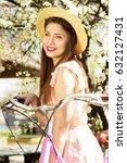 spring mood. portrait of...   Shutterstock . vector #632127431