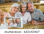 group of senior friends taking... | Shutterstock . vector #632142467