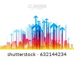 cityscape with skyscrapers and... | Shutterstock .eps vector #632144234