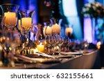 luxury table setting.     Shutterstock . vector #632155661