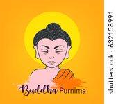 happy buddha purnima design... | Shutterstock .eps vector #632158991