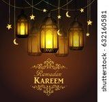 ramadan kareem  greeting... | Shutterstock .eps vector #632160581