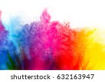 freeze motion of colorful ... | Shutterstock . vector #632163947