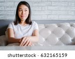 young asian woman relaxing on... | Shutterstock . vector #632165159