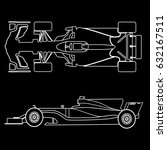 formula car  linear light... | Shutterstock .eps vector #632167511