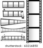 collection of film strip | Shutterstock . vector #63216850