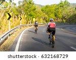 asian men are cycling road bike ... | Shutterstock . vector #632168729