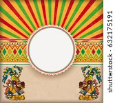 vintage background with mexican ... | Shutterstock .eps vector #632175191