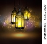 ramadan kareem greetings | Shutterstock .eps vector #632178029