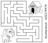 help puppy find path to his... | Shutterstock .eps vector #632179979