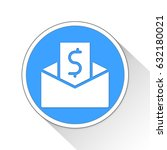 paycheck button icon business... | Shutterstock . vector #632180021