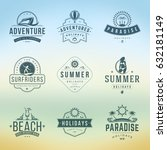summer holidays typography... | Shutterstock .eps vector #632181149