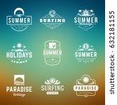 summer holidays typography... | Shutterstock .eps vector #632181155