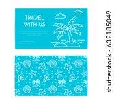 traveling business card... | Shutterstock .eps vector #632185049