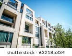 modern residential architecture ... | Shutterstock . vector #632185334