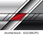 abstract red on metal design... | Shutterstock .eps vector #632186291