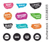ink brush sale banners and... | Shutterstock .eps vector #632188355