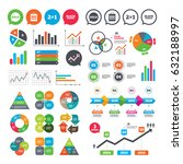 business charts. growth graph.... | Shutterstock .eps vector #632188997