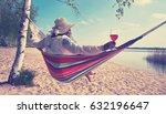 enjoy summer time at the beach  ... | Shutterstock . vector #632196647
