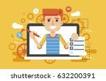 stock vector illustration man... | Shutterstock .eps vector #632200391