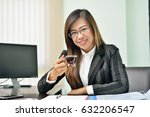 modern business woman in the... | Shutterstock . vector #632206547