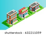 vector isometric icon set or... | Shutterstock .eps vector #632211059