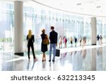 abstract image of people in the ... | Shutterstock . vector #632213345