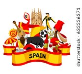 spain background design.... | Shutterstock .eps vector #632226371