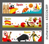 spain banners design. spanish... | Shutterstock .eps vector #632226389