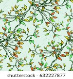 hand drawn seamless pattern... | Shutterstock .eps vector #632227877