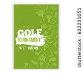 golf flyer vector illustration. ... | Shutterstock .eps vector #632231051
