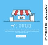 e commerce  pay online and... | Shutterstock .eps vector #632232329