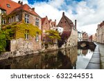 architecture of bruges city ... | Shutterstock . vector #632244551